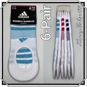 adidas Super No Show Superlite Socks, 6-Pair